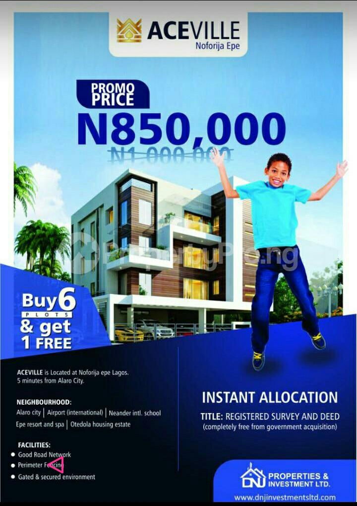 Serviced Residential Land Land for sale Alaro City, Noforija Epe Lagos - 0