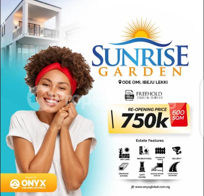 Mixed   Use Land for sale Sunrise Garden Estate, Ode Omi LaCampaigne Tropicana Ibeju-Lekki Lagos - 0