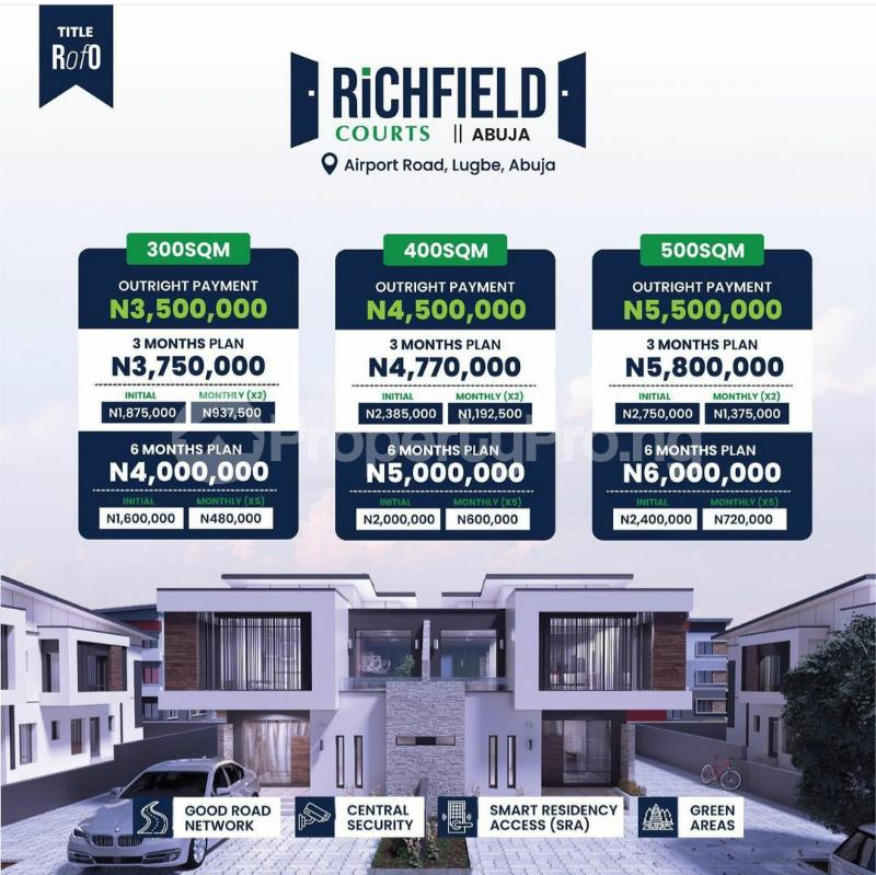 Residential Land for sale Airport Road Lugbe Abuja - 0