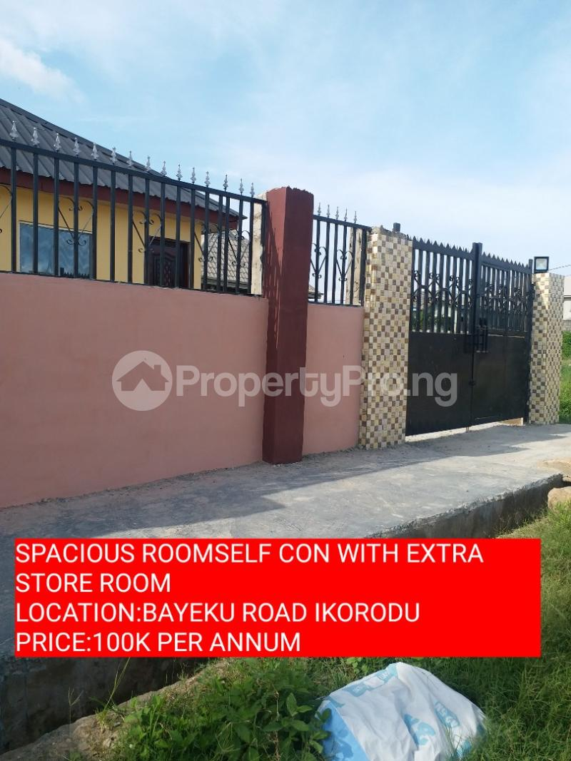 1 bedroom mini flat  Studio Apartment Flat / Apartment for rent ELEHA MUIBI STREET Igbogbo Ikorodu Lagos - 0