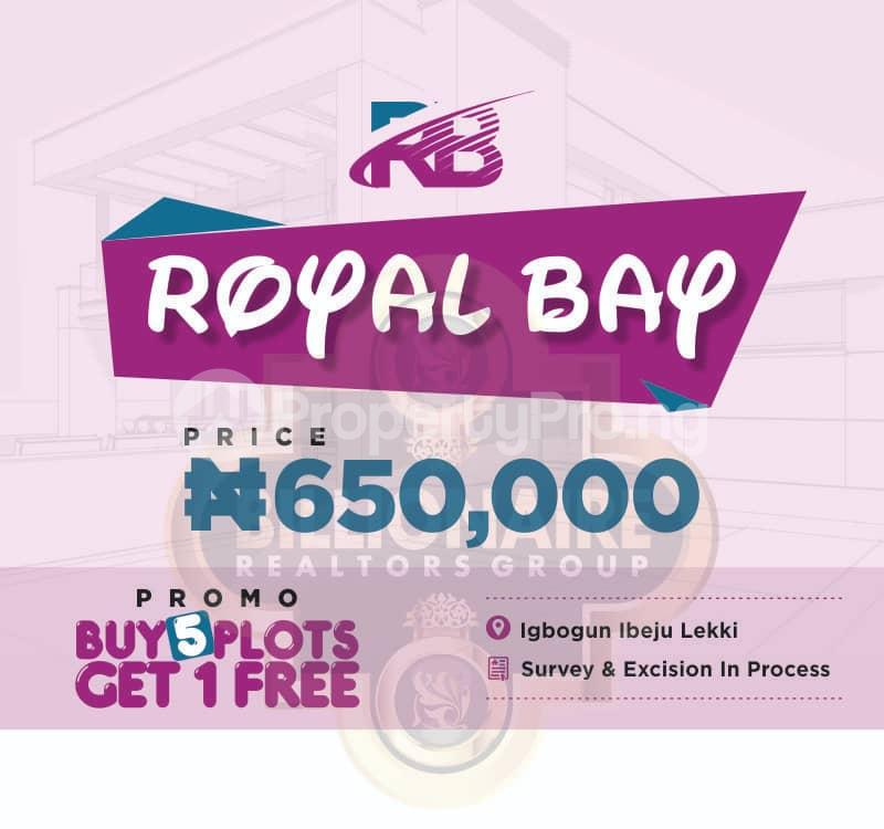 Serviced Residential Land Land for sale Igbogun Town, 7 Minutes From La Campagne Tropicana Beach Resort Ibeju-Lekki Lagos - 0