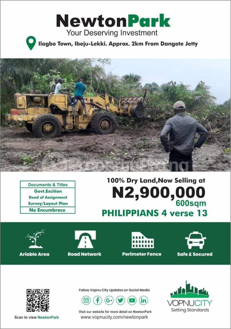 Serviced Residential Land Land for sale The Newton Park Ilagbo Town Ibeju Lekki  LaCampaigne Tropicana Ibeju-Lekki Lagos - 0