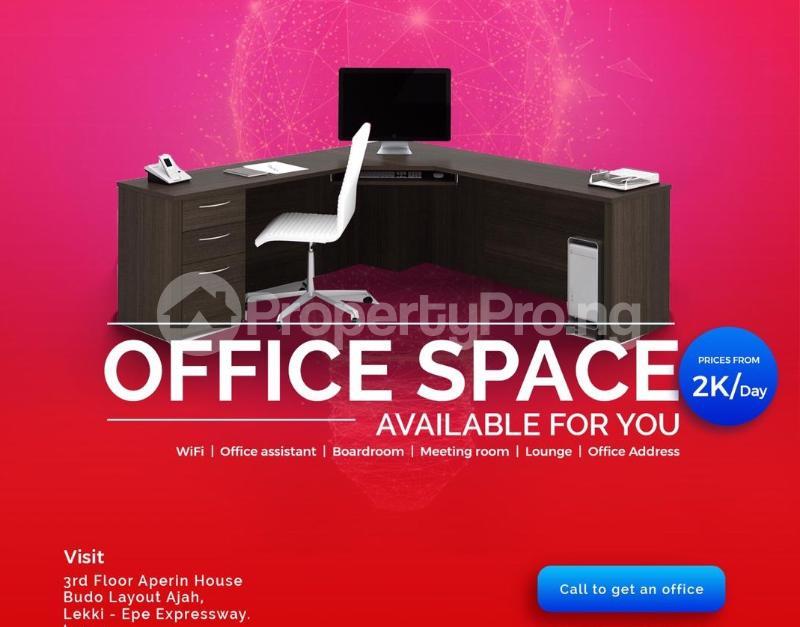 Desk Co working space for shortlet Aperin House, Lekki-Epe Expressway Thomas estate Ajah Lagos - 3