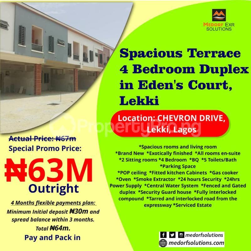 4 bedroom Terraced Duplex for sale Widens Court, Shevron Drive, Lekki, Lagos State. chevron Lekki Lagos - 0