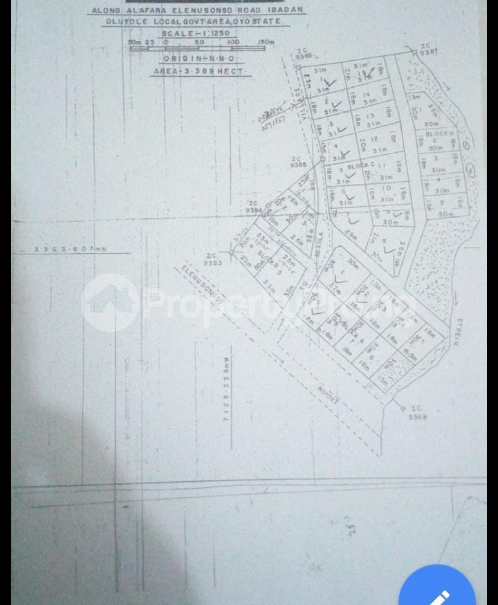 Residential Land Land for sale Alafara, After Nihort,  Close to Ologuneru  Eleyele Ibadan Oyo - 1