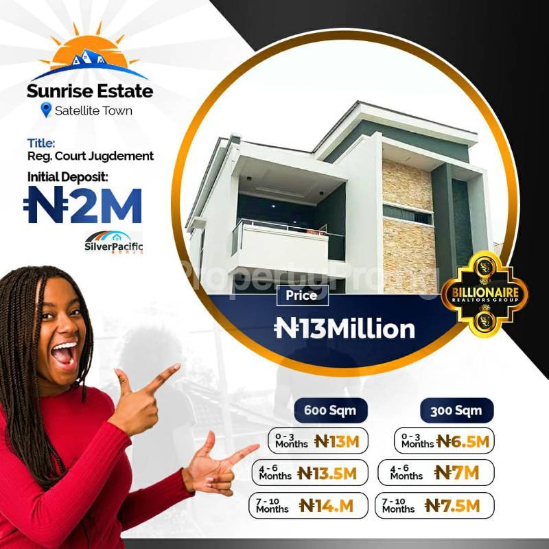 Residential Land for sale Satellite Town, Festac Lagos Satellite Town Amuwo Odofin Lagos - 1