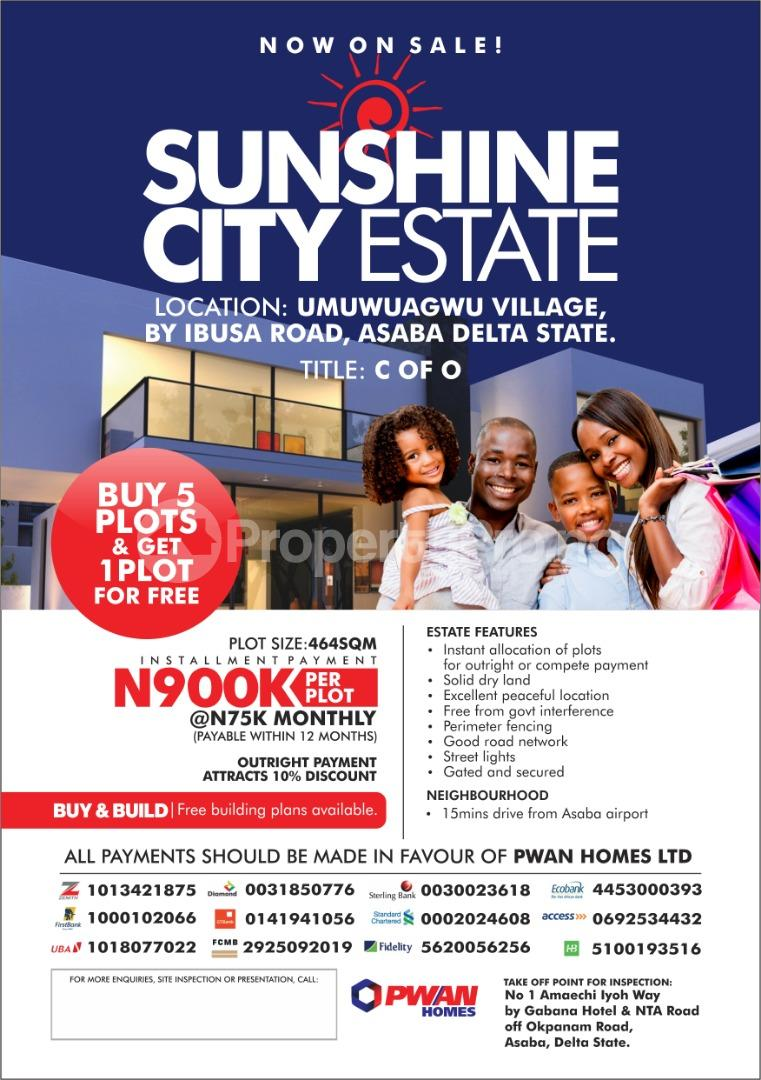 Mixed   Use Land Land for sale Umuwuagwu Village by ibusa road Asaba Delta - 0