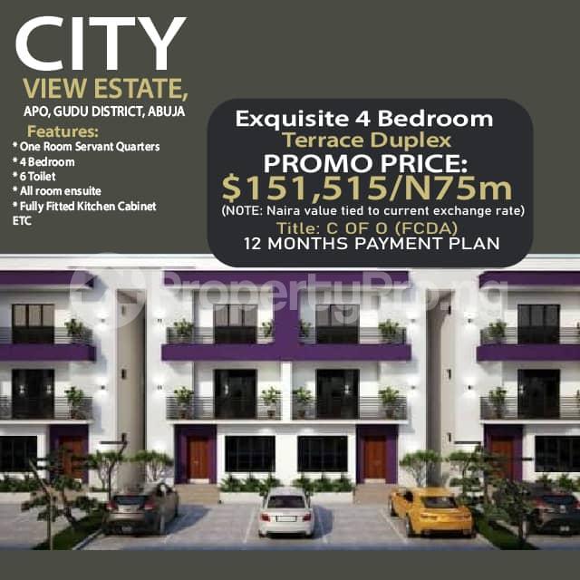 4 bedroom Terraced Duplex for sale City View Estate, Gudu. Apo Abuja - 0