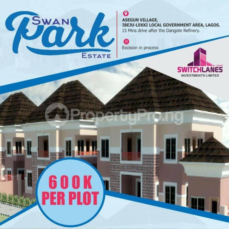 Residential Land for sale Asegun Village Ibeju-Lekki Lagos - 0