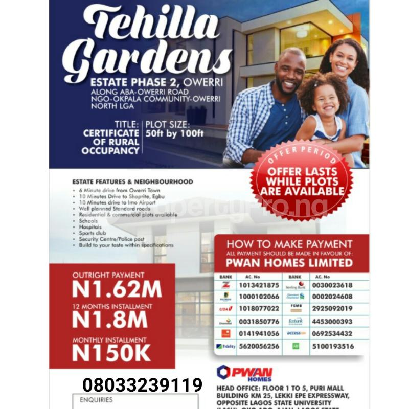 Residential Land for sale Aba Owerri Road Ngor-Okpala Imo - 0