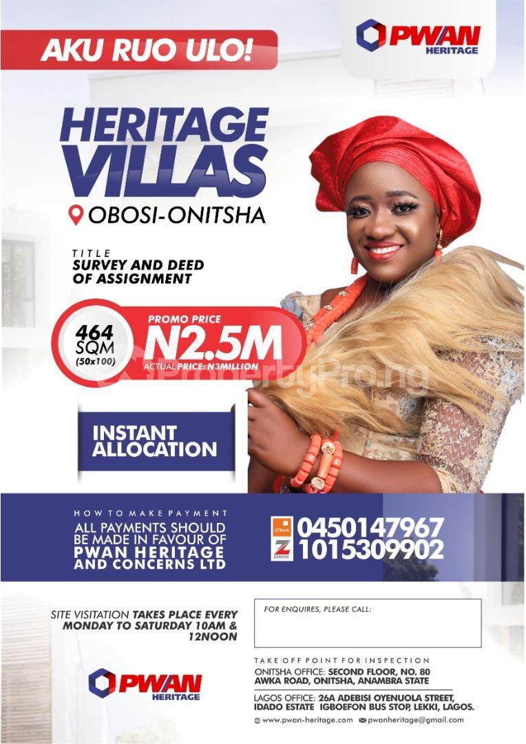 Mixed   Use Land for sale Obosi Onisha Owerri Imo - 0