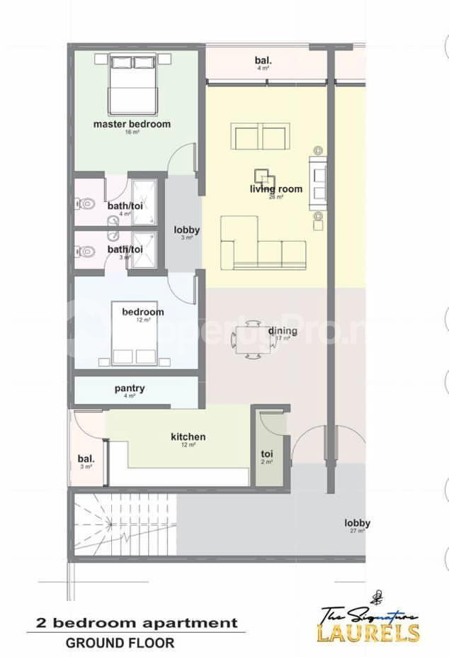 2 bedroom Massionette House for sale Abraham adesanya estate Ajah Lagos - 4