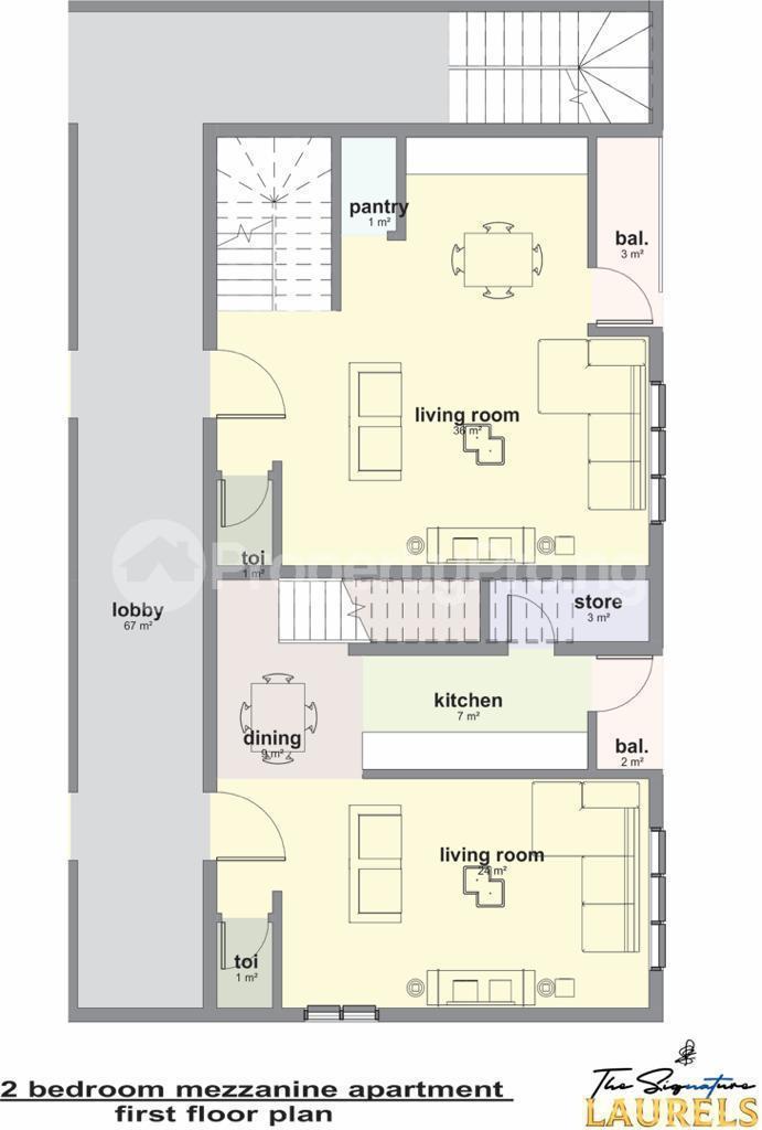 2 bedroom Massionette House for sale Abraham adesanya estate Ajah Lagos - 6