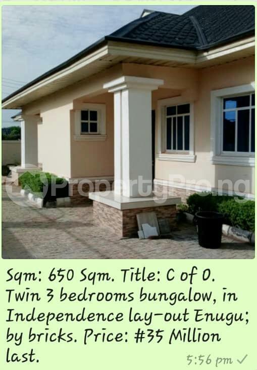 3 bedroom Bungalow for sale Independence Lay Out Enugu North Enugu - 0