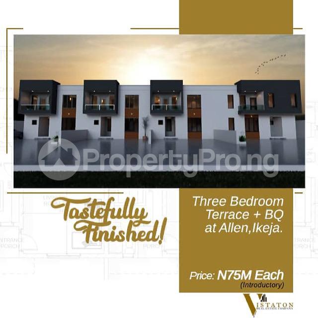 3 bedroom Terraced Duplex House for sale Adegbeyemi street Allen Avenue Ikeja Lagos - 0