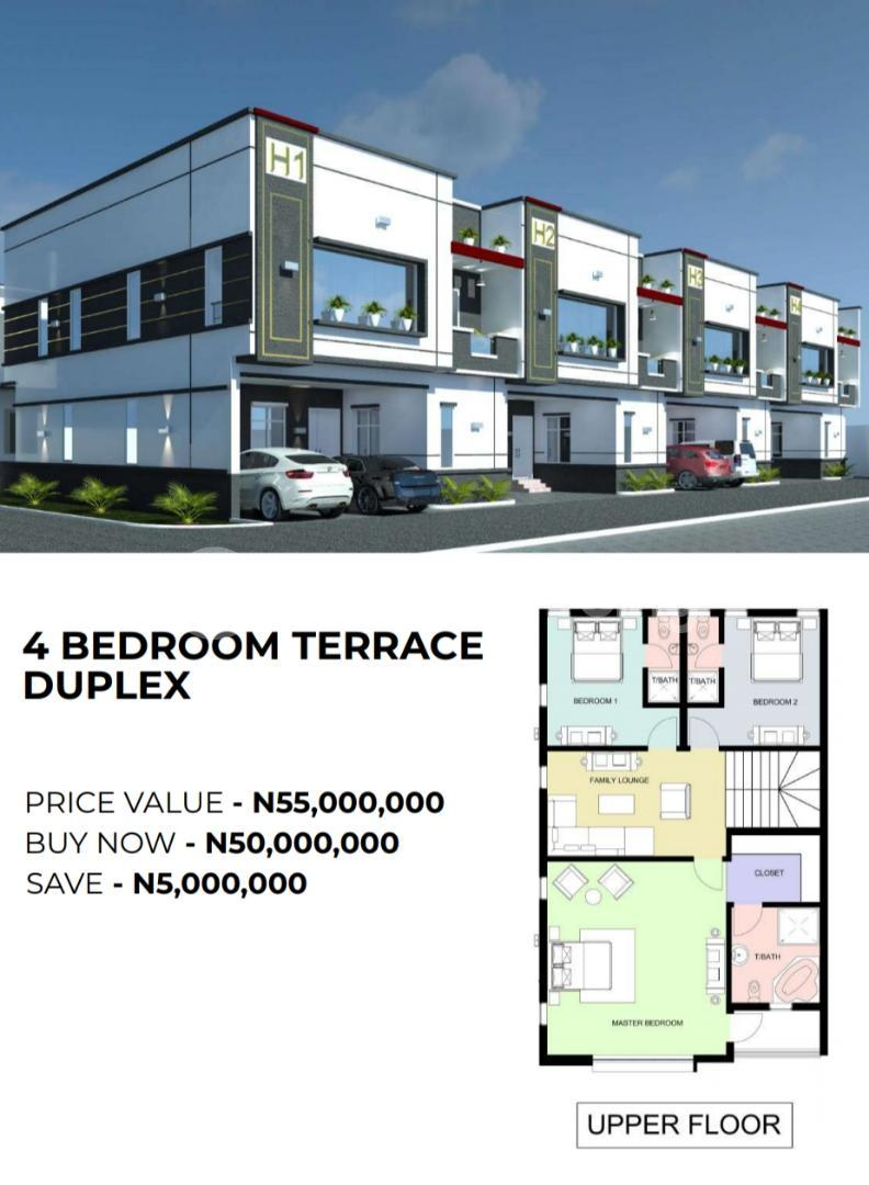 4 bedroom Terraced Duplex for sale Victoria Crest Ii Opposite Ocean Bay Estate Along Orchid Hotel Ro Ikota Lekki Lagos - 1