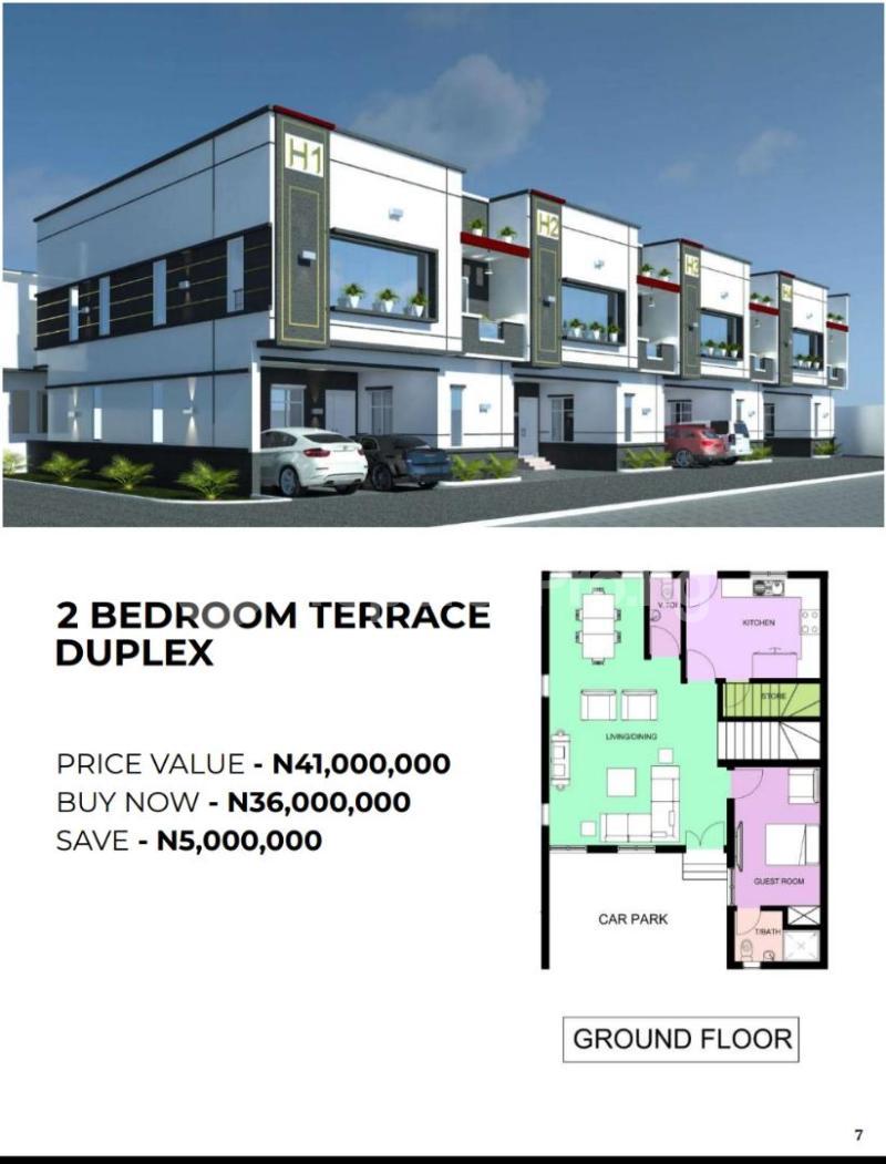 4 bedroom Terraced Duplex for sale Victoria Crest Ii Opposite Ocean Bay Estate Along Orchid Hotel Ro Ikota Lekki Lagos - 0