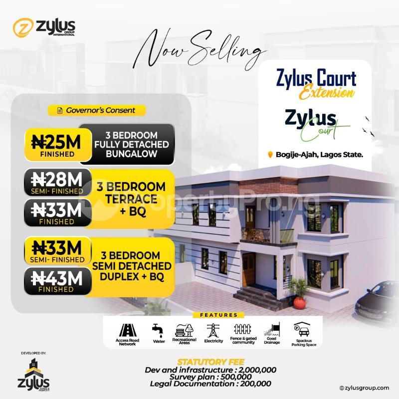 3 bedroom House for sale Bogije Ajah, Lekki Epe Expressway Free Trade Zone Ibeju-Lekki Lagos - 0