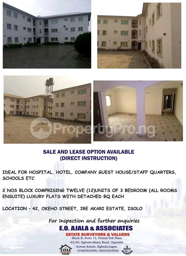 Blocks Of Flats House For Sale 42 Okeho Street Ire Akari Isolo