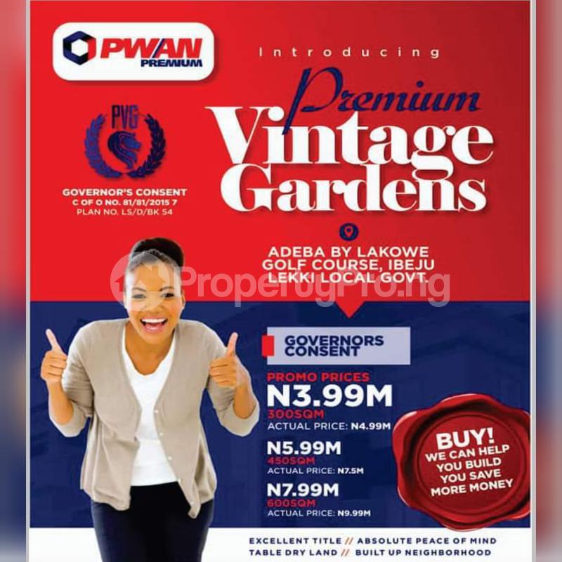 Residential Land Land for sale Lakowe Ajah Lagos - 1