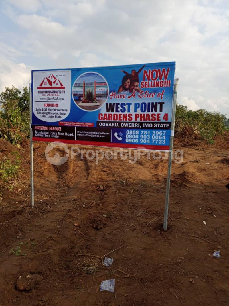 Residential Land Land for sale Ogbaku, Mbaitoli, L.G.Area, Owerri, Imo State. Mbaitoli Imo - 1