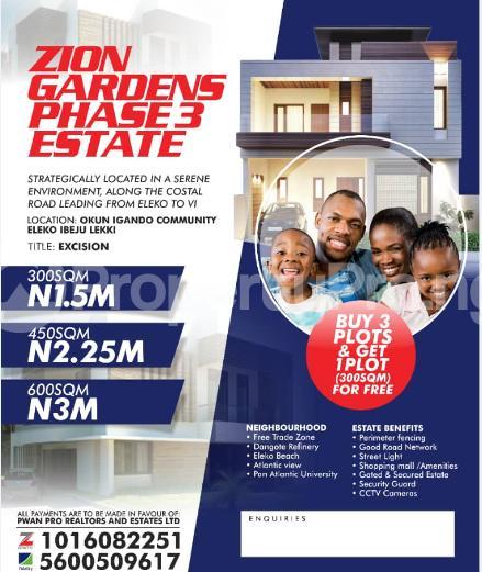 Mixed   Use Land for sale Okun Igando Community Eleko Ibeju-Lekki Lagos - 0
