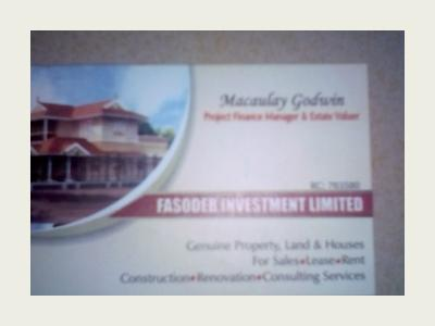 Fasodeb investment limited