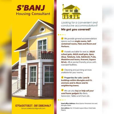 SBANJ REAL ESTATE CONSULTANT, Property Management & Estate Agency