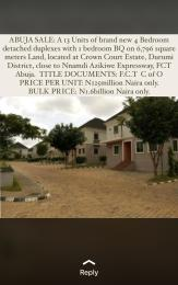 4 bedroom Detached Duplex House for sale Crown court Estate close to Nnamadi Azikiwe expressway  Durumi Abuja