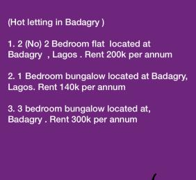 3 bedroom Blocks of Flats House for rent Agbara Badagry Lagos