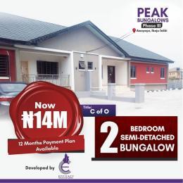 2 bedroom Semi Detached Bungalow for sale Peak Bungalows Phase 3, Behind Mayfair Gardens Awoyaya Ajah Lagos