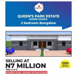 2 bedroom Terraced Bungalow House for sale Queens park estate Mowe Obafemi Owode Ogun