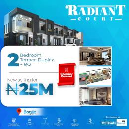 2 bedroom Terraced Duplex House for sale Radiant Court, 1 Minute From Lekki Expressway Bogije Sangotedo Lagos