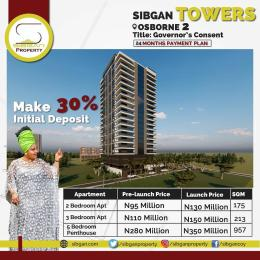 5 bedroom Penthouse Flat / Apartment for sale Sibgan gardens  Osborne Foreshore Estate Ikoyi Lagos