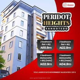 3 bedroom Mini flat Flat / Apartment for sale Peridot Heights, Close To Novare Shoprite Monastery road Sangotedo Lagos