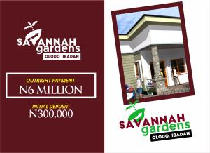 Semi Detached Bungalow House for sale About 20 minutes to Nigerian Airforce School Egbeda Oyo