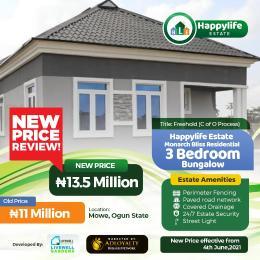 3 bedroom Detached Bungalow House for sale Opposite Christopher Ubiversity Arepo Ogun
