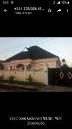 3 bedroom Semi Detached Bungalow House for rent Kado Kado Abuja
