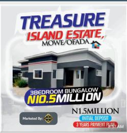3 bedroom Detached Bungalow House for sale 3 bedroom Bungalow in Treasure island Estate Mowe Ofada Mowe Obafemi Owode Ogun
