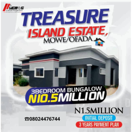 3 bedroom Detached Bungalow House for sale MOWE-OFADA  Mowe Obafemi Owode Ogun