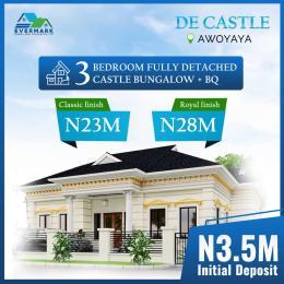 3 bedroom Detached Bungalow House for sale De Castle, Awoyaya, Close To Mayfair Gardens Oribanwa Ibeju-Lekki Lagos