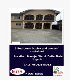 3 bedroom House for sale Masoje Warri Delta state Nigeria Uvwie Delta