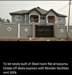 3 bedroom Flat / Apartment for rent Kasumu estate off tipper garage  Akala Express Ibadan Oyo