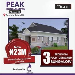 3 bedroom Detached Bungalow for sale Awoyaya Awoyaya Ajah Lagos