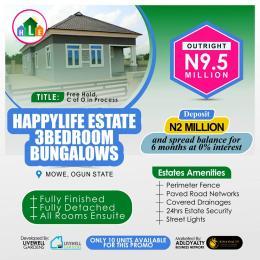 3 bedroom Detached Bungalow House for sale Happy Life Estate opposite Christopher University, Lagos Ibadan Expressway Mowe Sagamu Sagamu Ogun