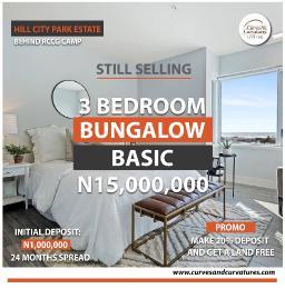 3 bedroom Detached Bungalow House for sale Off Shimawa Road After RCCG New Auditorium Mowe Obafemi Owode Ogun