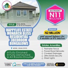 3 bedroom Semi Detached Bungalow House for sale Happy Life Estate, Mowe Mowe Obafemi Owode Ogun