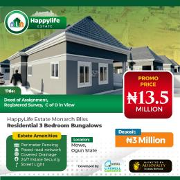3 bedroom Detached Bungalow for sale Happy Life Estate Opposite Christopher University (beside Rccg Youth Church), Lagos Ibadan Expressway, Mowe Arepo Arepo Ogun