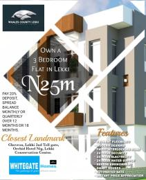 3 bedroom Self Contain Flat / Apartment for sale Second toll gate, Orchid Hotel Road chevron Lekki Lagos
