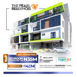 3 bedroom House for sale Lekki Pearl Garden Abijo, behind Oando Fuel Station off Lekki Epe Expressway.  Abijo Ajah Lagos